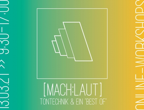 Workshop Tontechnik am 13.3.